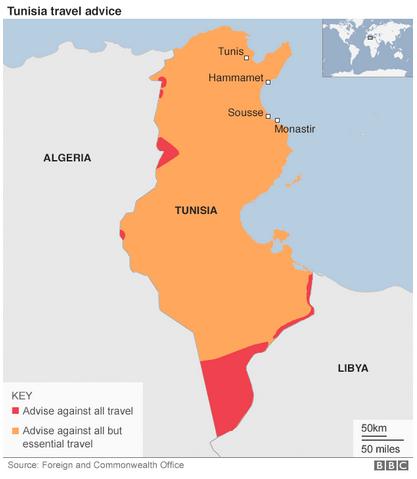 チュニジア危険情報英外務省7月9日