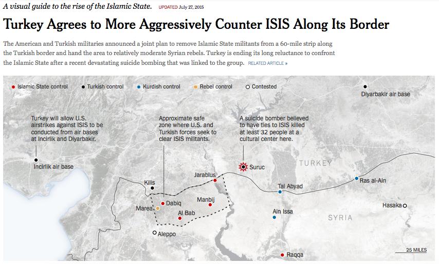 トルコのシリア北部安全地帯NYT27July2015