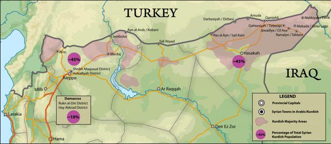 シリア北部クルド人