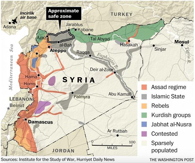トルコのシリア北部安全地帯ワシントンポスト7月26日