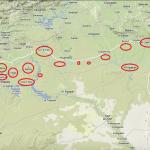 【地図】シリア北部にはトルクメン人もいる