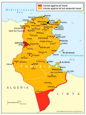 チュニジア危険情報英国無償HP2015年7月9日