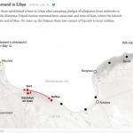 【地図】リビア東部ダルナで「イスラーム国」が別のジハード組織によって掃討される