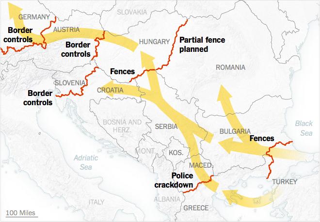 シリア移民と防護フェンス構築
