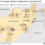 【日めくり地図】アフガニスタンのターリバーンと「イスラーム国」による攻撃箇所