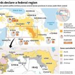 【今日の一枚】(15)シリア内戦 クルド人勢力の台頭(その1)自治政府宣言