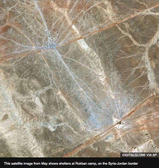 ヨルダン・シリア国境ラクバーンの難民キャンプ
