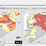 【今日の一枚】(12)「イスラーム国」のイラクとシリアでの領域支配の変遷(その2)2014年後半の拡大・定着