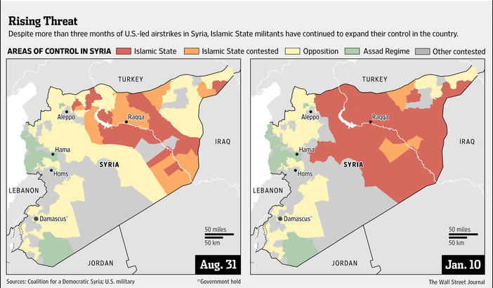 Isis Syria 2014 expantion Wall Street Journal