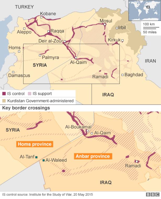 シリア南部Tanfの制圧2015年5月BBC