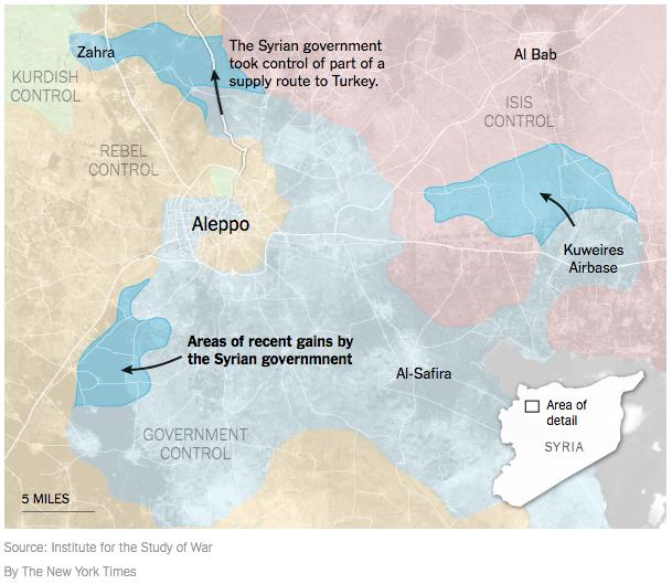 アレッポ反体制派トルコへの補給路をアサド政権が切断2016年2月