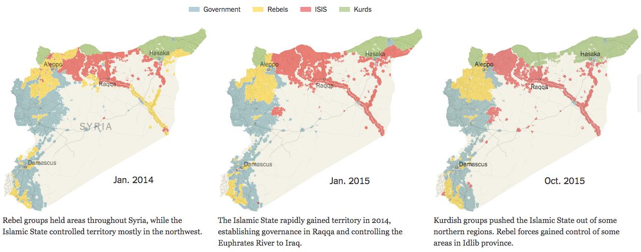 クルド人勢力の台頭2014から2015年