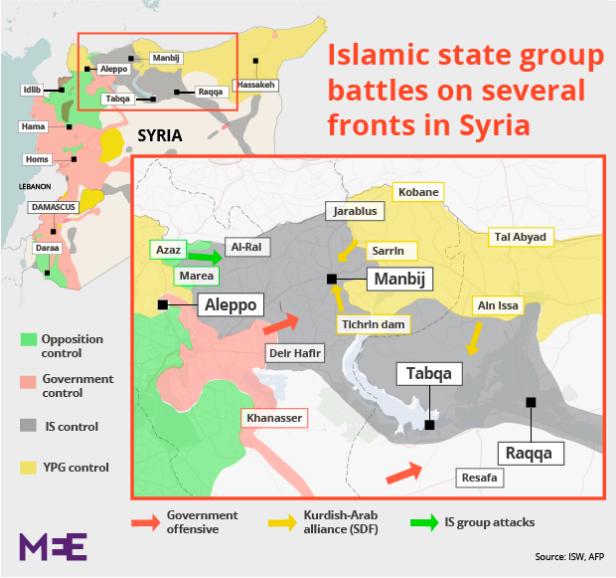 シリア内戦トルコとの回廊の争奪戦2016年6月