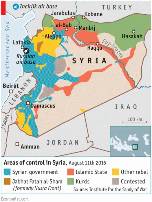 シリア情勢地図20160811_Economist20160827
