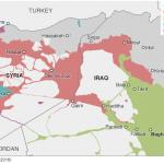 【今日の一枚】(33)トルコ侵攻後のシリア・イラク地図2016年9月