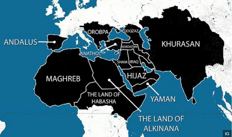 イスラーム国黒地図2世界