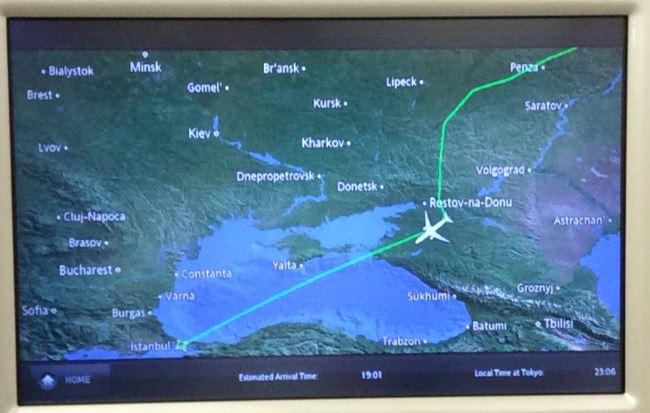 ウクライナ上空回避6