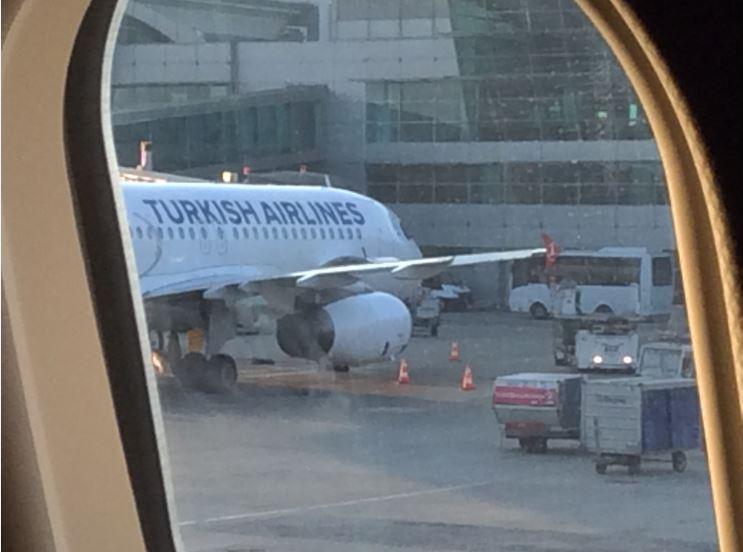 イスタンブル空港到着