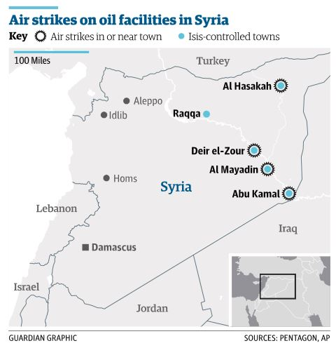 シリア東部の油田空爆_Sep 24 2014 Guardian