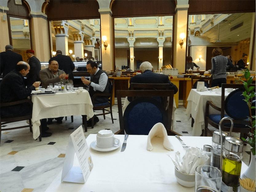 チュニスホテルの朝食